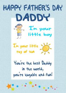 Little Boy Father's Day Card